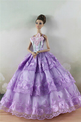 Fashion Party Dress/Wedding Clothes/Gown For 11 in. Doll d48
