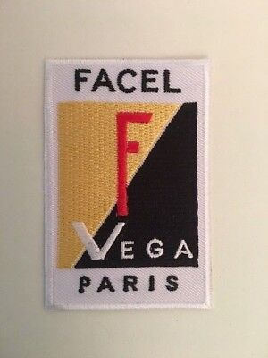 A316 Patch Ecusson Facel Vega Paris 5*8 Cm