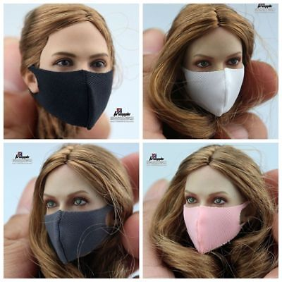 2pcs 1//6 Scale Woman Face Mask Mouth Cover for 12/'/' Phicen Hot Doll Female