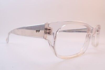 Vintage Cutler and Gross of London eyeglasses frames clear acetate metal arms
