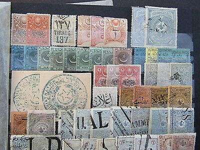 Turkey - Collection Of Vintage Back Of Book Issues On Stocksheet - Unchecked