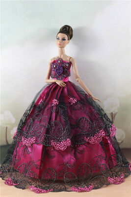 Fashion Party Dress/Wedding Clothes/Gown For 11 in. Doll d61