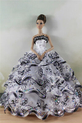 Fashion Party Dress/Wedding Clothes/Gown For 11 in. Doll d63