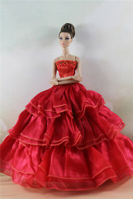 Fashion Party Dress/Wedding Clothes/Gown For 11 in. Doll d64