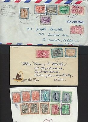 SAUDI ARABIA 1950s 60s COLLECTION OF 20 COMMERCIAL COVERS MULTIFRANKED FROM DIF