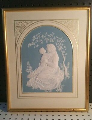 Franklin Mint Parian Porcelain Madonna Of The Grotto Bisque Plaque