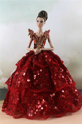 Fashion Party Dress/Wedding Clothes/Gown For Barbie Doll d45