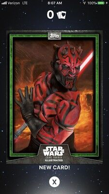 Topps Star Wars Card Trader Illustrated Green Blue Gray Death Maul Wave II
