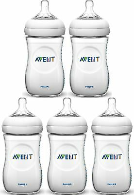 Avent NATURAL FEEDING BOTTLES 260ML Baby/Toddler Bottle 2 Pack/3Pack  BN