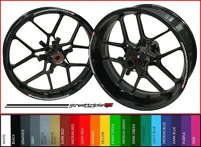 8 x Triumph STREET TRIPLE RS 765 Wheel Rim Decals Stickers - 20 colors available