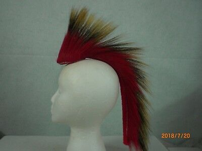 Porcupine Roach, Red out, 15 inch, Red with a Red Yarn Base