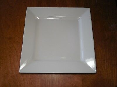 """Food Network SHORTBREAD WHITE SQUARE Dinner Plates 10 7/8""""   4 available"""