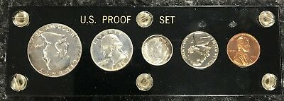 1955 U.s. Mint 5 Coin Proof Set In Holder! Some Nice Toning! Nr!