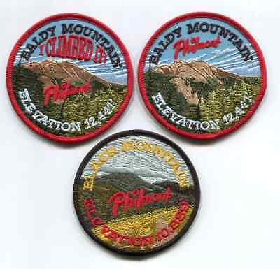 Philmont Scout Ranch Patch - Lot Of 3 Mountain Patches