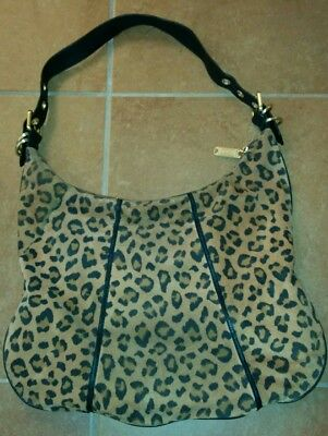 Steven Madden Leopard Hobo Soft Suede Shoulder Bag Purse  Versatile   Chic! 2927ce5be05e5