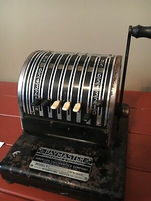 Antique Vintage Paymaster Checkwriter - WORKS - 1950´s