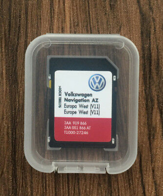 Volkswagen Skoda Seat rns315 2019 SD Card MAP Update v11 Europa West Neu Version