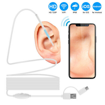 WiFi Endoskop Wasserdicht USB Endoscope Inspektion Kamera for iOS Android BI1137
