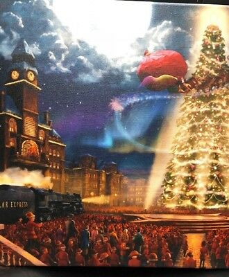 The Polar Express 14 x 14 Gallery Wrap Canvas-Thomas Kinkade
