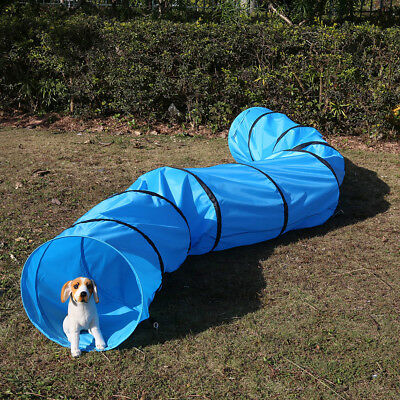 5m Long Dog Agility Tunnel Obedience Training Exercise Equipment Training