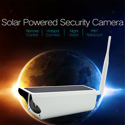 IR Security Camera Solar Battery Power WiFi Wireless PIR Sensor 1080P 2MP