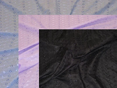 Polycotton Broderie Anglaise Black Blue Lilac