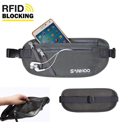 Anti Theft Money Pouch Security Under Clothing Travel Stash Purse RFID Protect