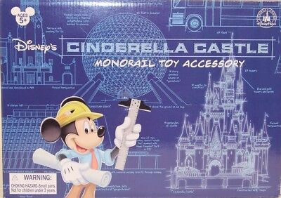 Disney's Cinderella Castle Monorail Toy Train Play Set Accessory New in Box WDW