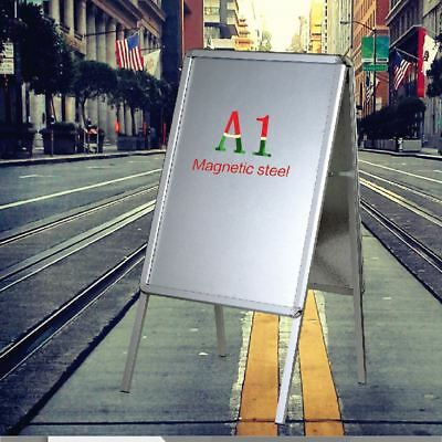 A1A2 A-Board Pavement Sign Snap Frame Double Side Aluminium Poster Display Stand