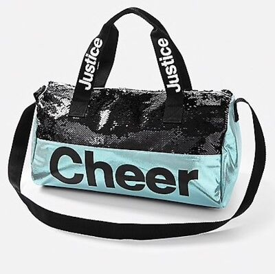 NWT JUSTICE Girls Sparkling Flip Sequin CHEER Duffle Bag