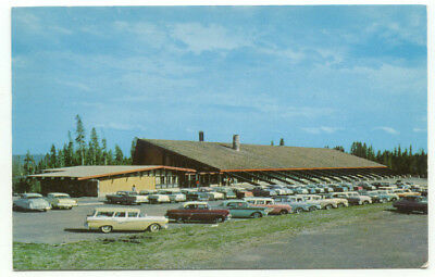 Yellowstone National Park Canyon Lodge Administration Building Old Cars Postcard