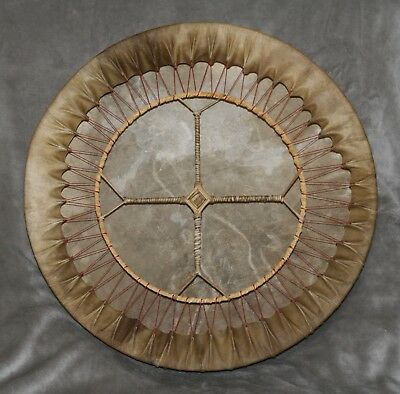 "20"" Shamanic Spirit Drum - Red Deer Hide on Ash Hoop - with beater"