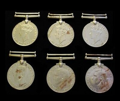6x WWII WW2 British Medals 1939-45 & the Defense Defence Medal – Lot