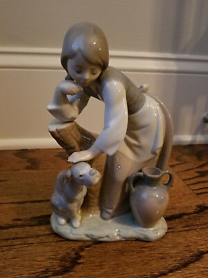 Lladro Figurine Caress and Rest Girl - retired