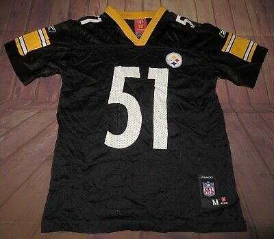 finest selection 33a7c f8dfd PITTSBURGH STEELERS JAMES Farrior NFL Football Jersey Youth Medium 10-12  Reebok