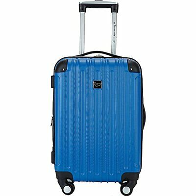 "MADISON 20"" Cup-Holder Hardside Expandable Carry-On Spinner Blue"