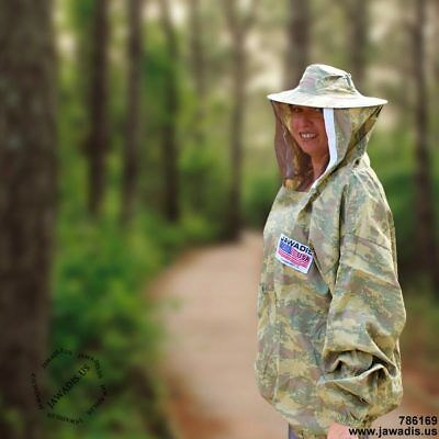 2XL Jawadis Camouflage Lightweight Pullover Best Beekeepers Jacket with Veil