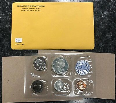 1960 U.s. Mint 5 Coin Proof Set In Original Government Packaging! Nr!