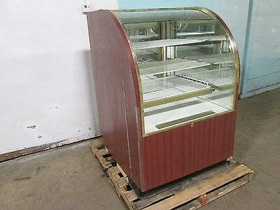 """""""regal"""" Hd Commercial Lighted Curved Glass Dry Bakery Merchandiser Display Case"""
