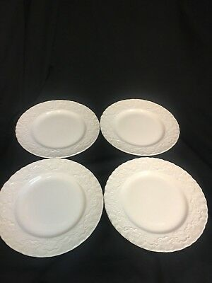 RALPH LAUREN WEDGWOOD CLAIRE CHINA England White Set of 4 Bread Plates Excellent