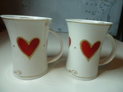 Collectable ''juliet By Caroline Bessey''  Fine Bone China Mugs X 2 By Dunoon