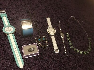 Jewellery Items Ring Size L 4 Watches Necklaces