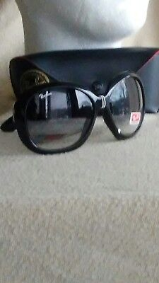 Ray Ban Oversize Sunglasses Black Jackie Ohh Excellent Condition w/case