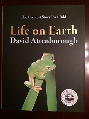 Signed LIFE ON EARTH David Attenborough THE GREATEST STORY EVER TOLD Book