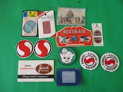 12 vintage lot crafting sewing needle advertising needle packets