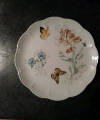 """Lenox Butterfly Meadow Monarch 11"""" Dinner Plate Excellent Cond."""