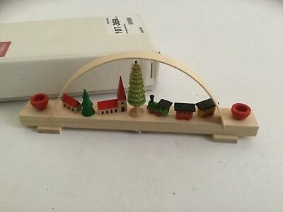 Muller 100 Jahre in Seiffen GERMAN CHRISTMAS CANDLE Holder ARCH WOOD CARVED