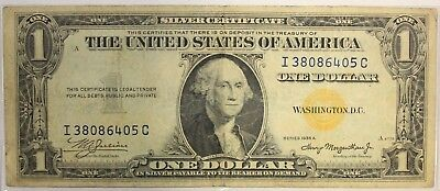 North Africa Note 1935 A $1 One Dollar Bill YELLOW SEAL Emergency Issue