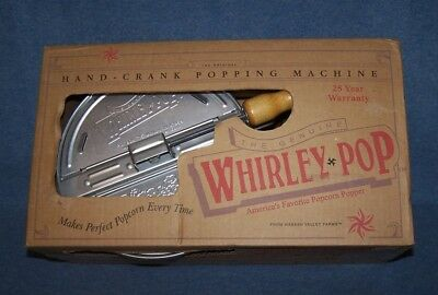 Nib  Whirley Pop Hand Crank Popping Machine Wabash Valley Farms Made In Usa