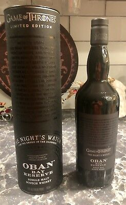 Game Of Thrones The Night's Watch Oban Bay Reserve Scotch Whisky